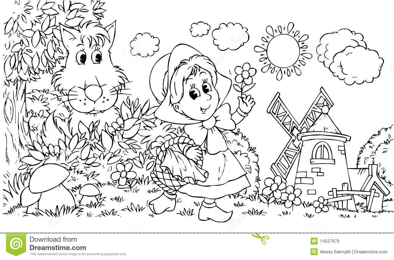 Little Red Riding Hood Stock Illustration Illustration Of Land