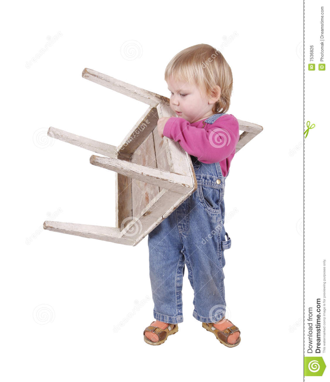 little girl chairs threshold barrel chair young carries royalty free stock image