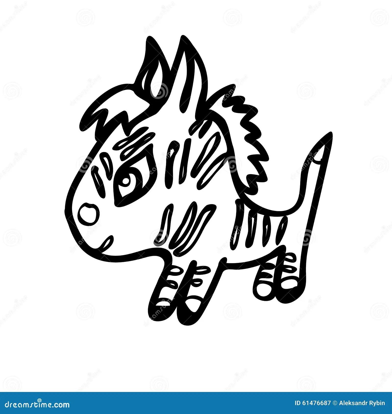 The Little Zebra Stock Illustration