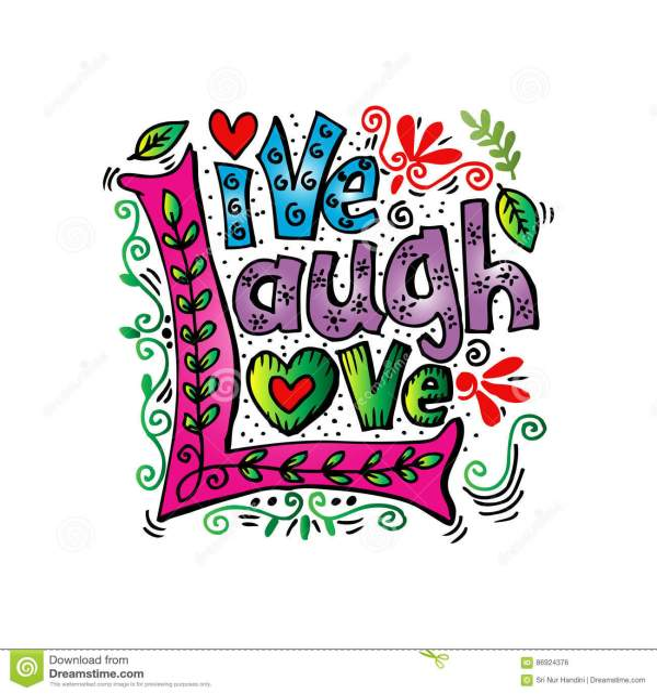 live laugh love. stock illustration