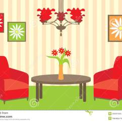 Living Room Pictures Clipart Apartment Decorating Ideas On A Budget Stock Vector Illustration Of Indoors Bright 23437445