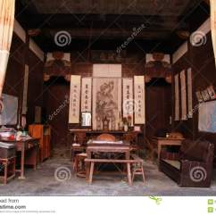 Chinese Living Room Ethan Allen Furniture Chairs Of An Ancient Home Editorial Stock Image