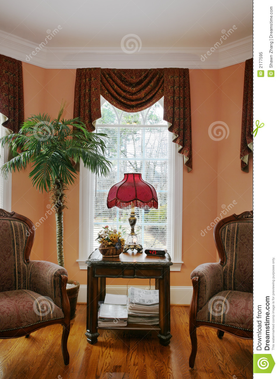family room sofa table english company reviews living with bay window royalty free stock photo ...