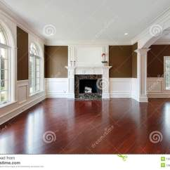 Living Room Ideas With Cherry Wood Floors Guest Flooring Stock Image Of House In New Construction Home