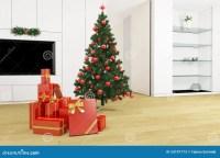 Living Room With Christmas Tree Stock Photos - Image: 33197773