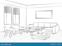 Living Room Design Room Interior Sketch Interior Furniture ...