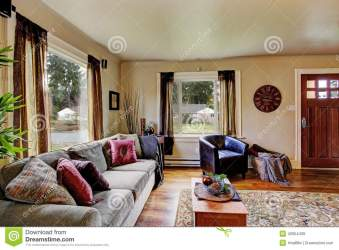 Living Room Interior In American House Stock Image Image of furniture style: 42954439