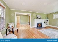 Living Room Interior Design Of Craftsman House Stock Photo ...
