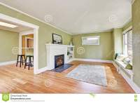Living Room Interior Design Of Craftsman House Stock Photo ...