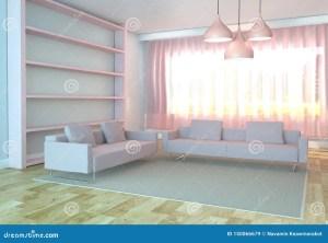 living sofa carpet interior rendering wooden floor