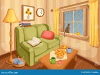 Living Room Interior. Vector Illustration. Stock Vector ...