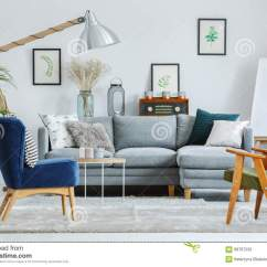 Armchairs For Living Room Modern Ideas With Fireplace And Tv Vintage Radio Stock Image Of Grey Natural Designer S Colorful In Sofa Pillows
