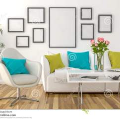 Frames For Living Room Walls All Black On The Wall Empty Picture Stock Photo Image