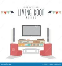 Living Room (White Background) Stock Vector - Illustration ...