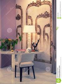 Living Room With Work Table Stock Photo - Image: 46012968