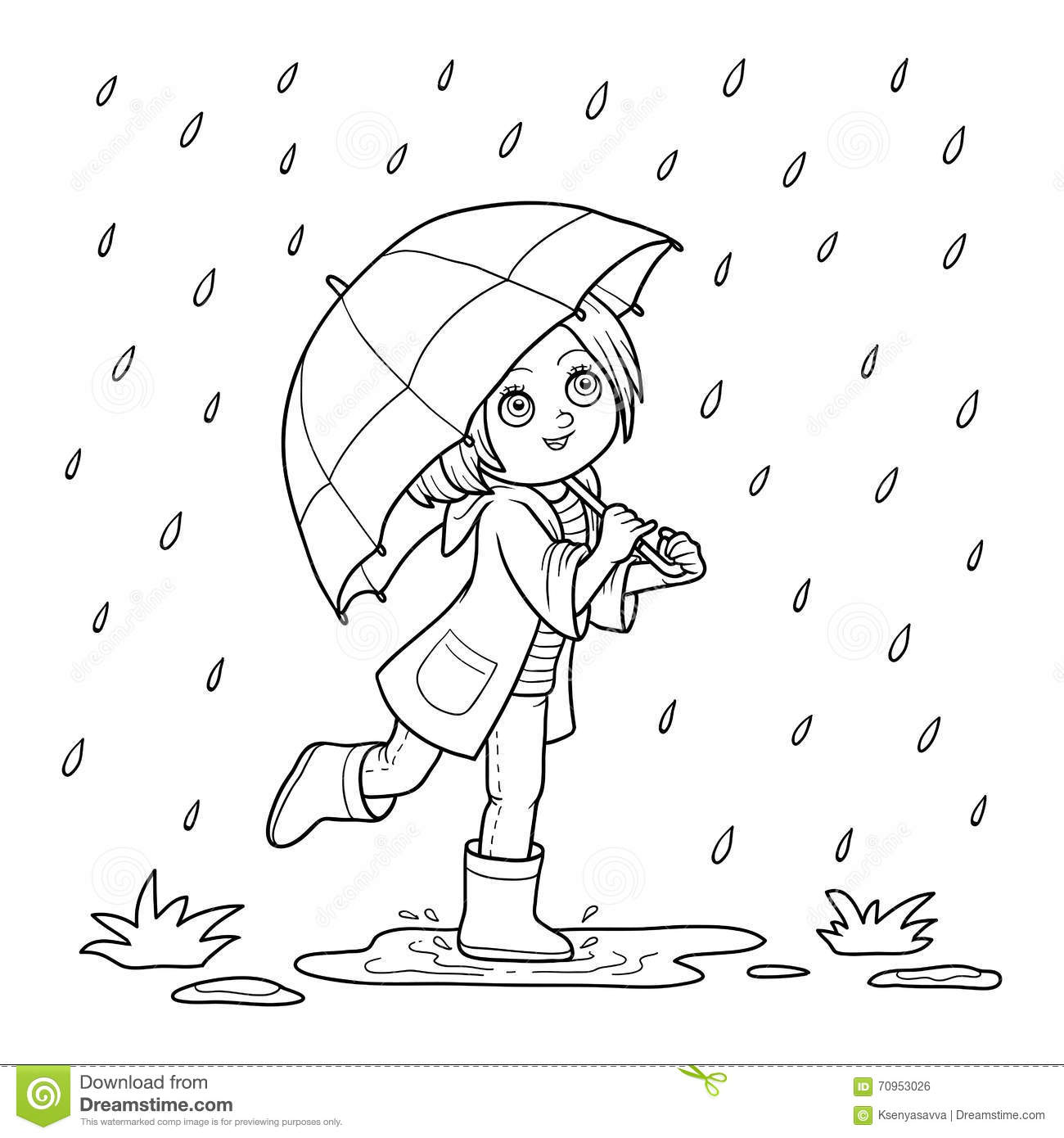 Its Raining Pouring Coloring Sheet Pages Sketch Coloring Page