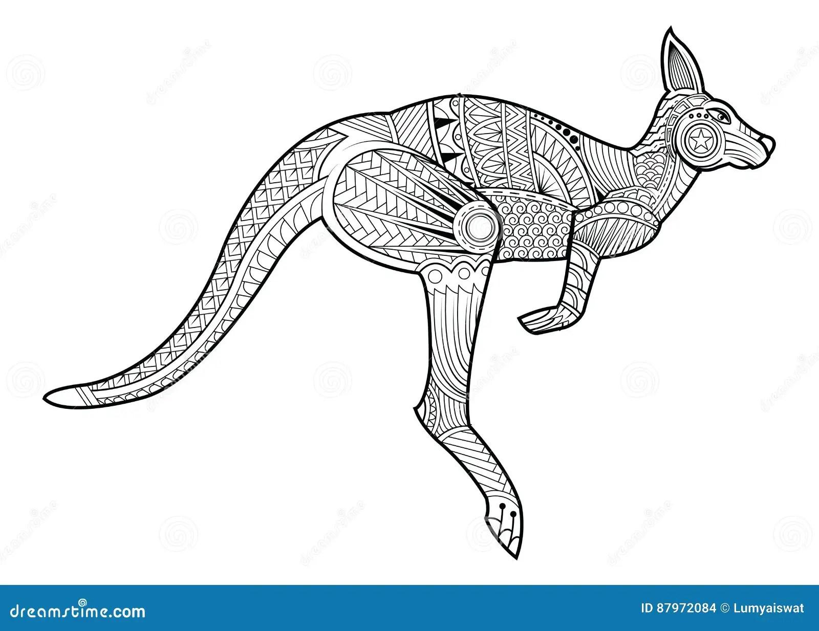 Livre De Coloriage Animal De Kangourou Pour L Illustration