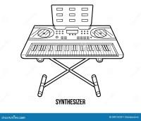 Livre De Coloriage : Instruments De Musique (synthtiseur ...