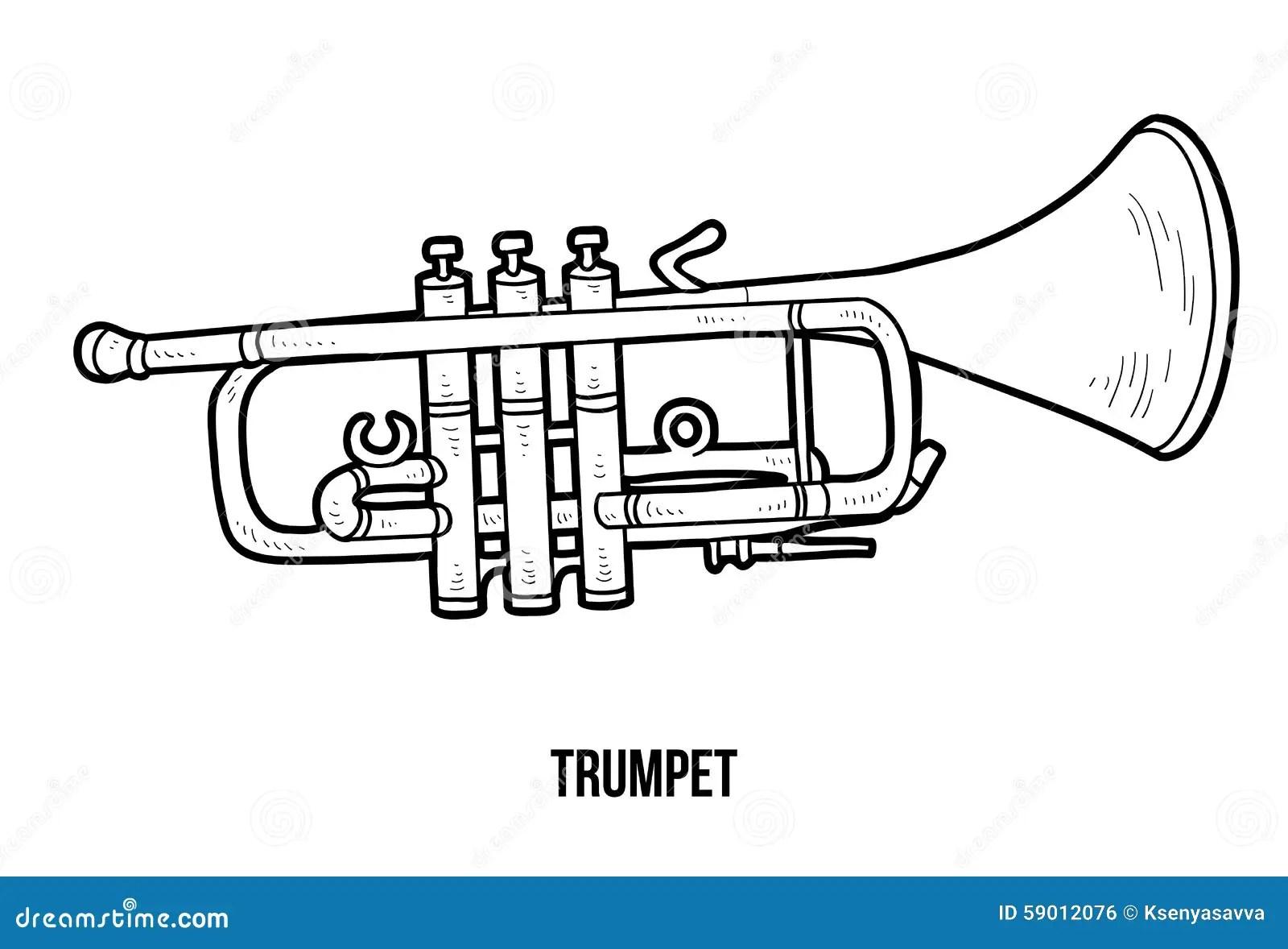 Livre De Coloriage : Instruments De Musique (trompette