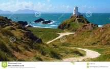 Lighthouse In Anglesey Wales Stock - 34362776