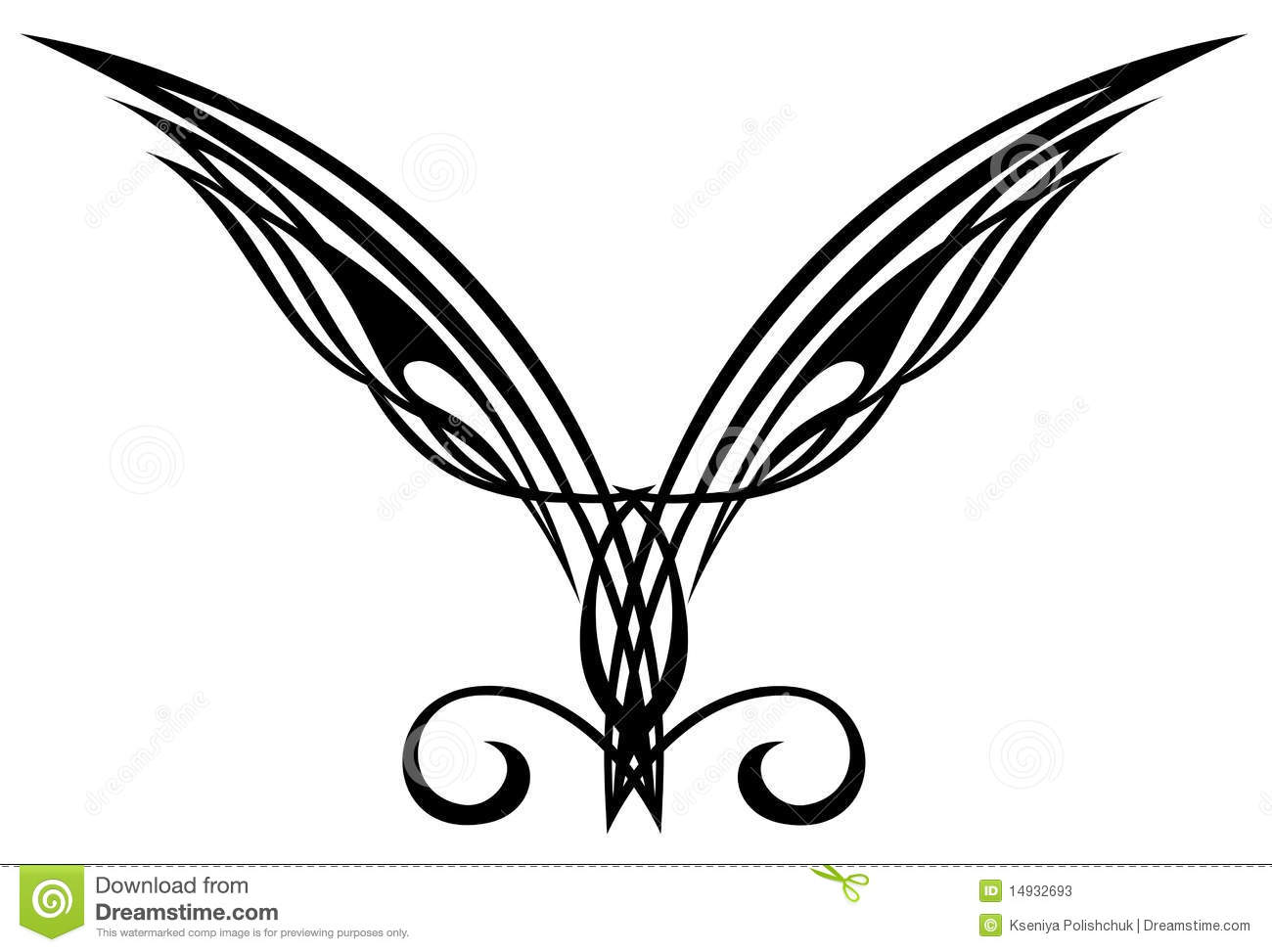 Elements De Conception De Tatouage Ailes Photos Stock