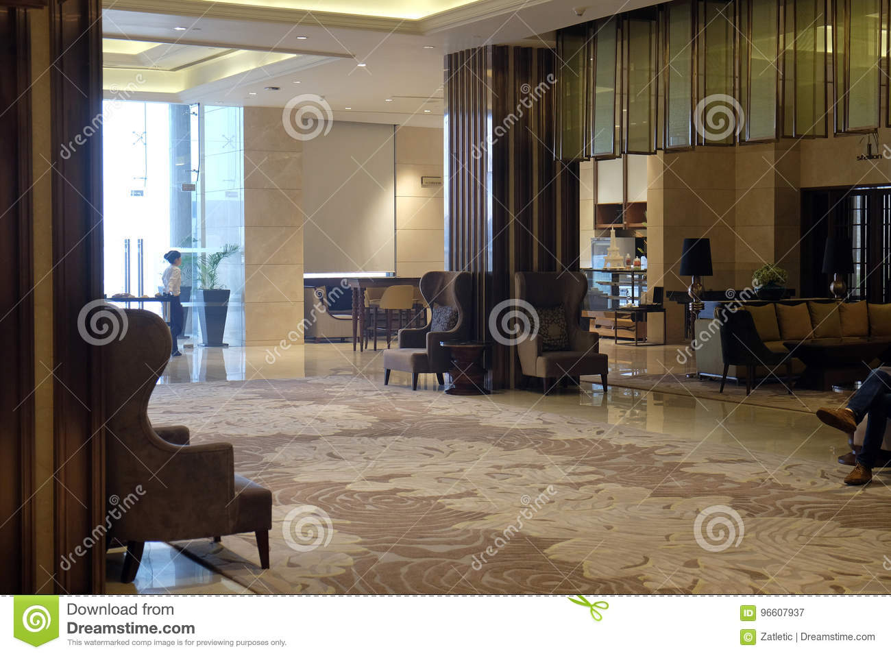 Lobby In Pride Plaza Hotel New Delhi India Editorial