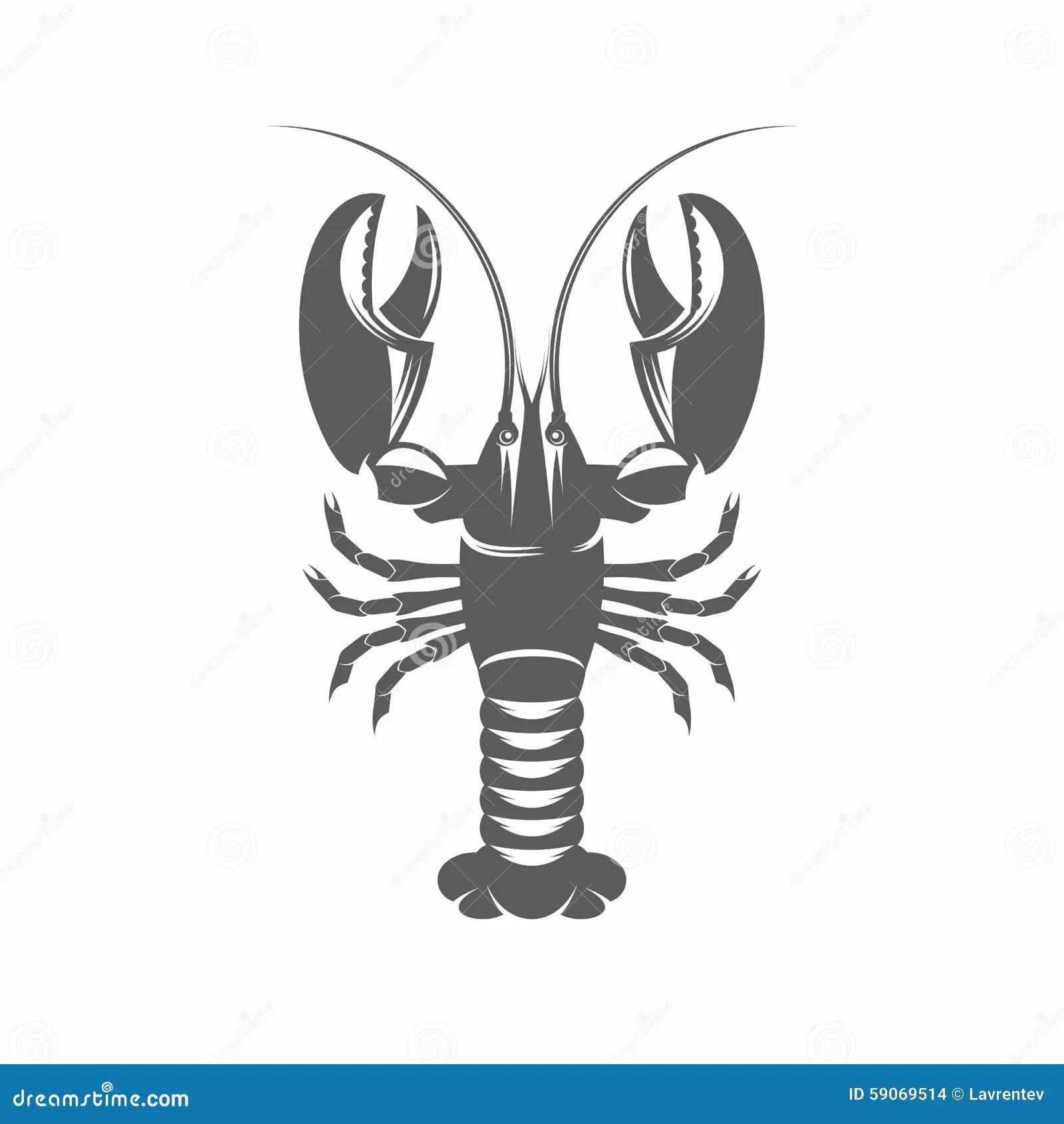 hight resolution of lobster black and white vector illustration illustration 59069514 megapixl