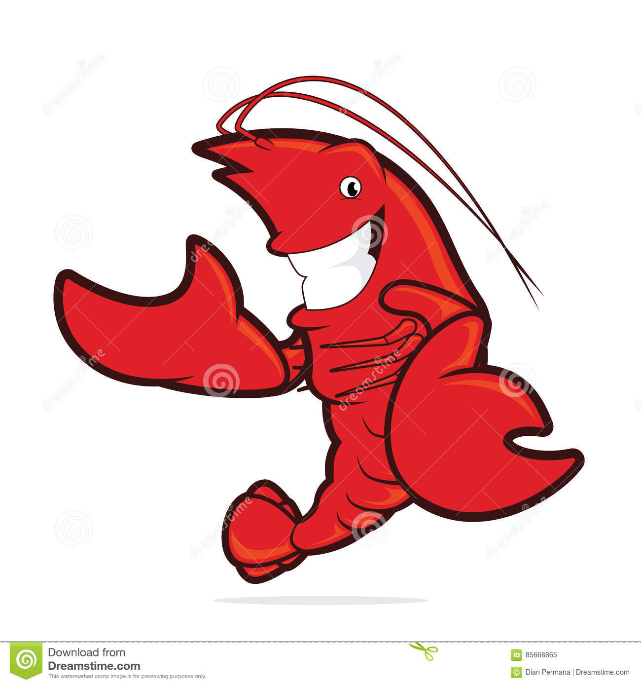 hight resolution of clipart picture of a lobster cartoon character presenting something
