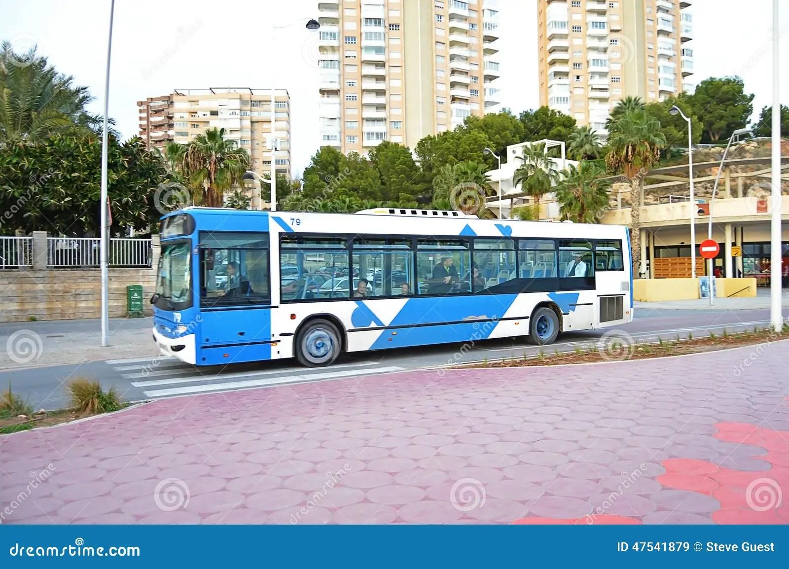 A Local Bus Benidorm Coach editorial stock image. Image of pass - 47541879
