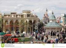Local And Tourist In Famous Disneyland Par Editorial