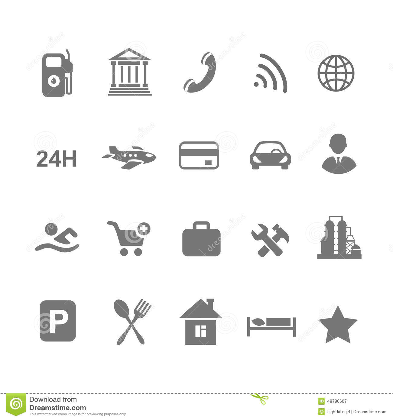 Location Icons Stock Vector
