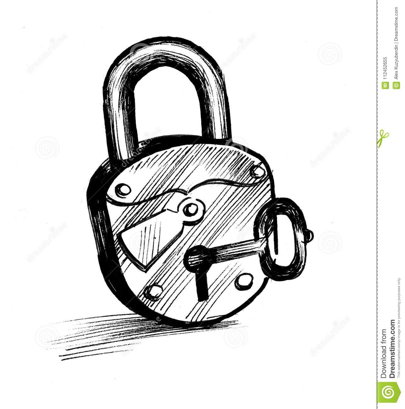 Lock And Key Stock Illustration Illustration Of Artwork