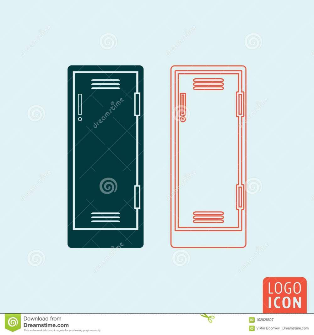 medium resolution of locker icon isolated storage compartment or school lockers symbol vector illustration