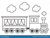 Locomotiva, Libro Da Colorare Illustrazione Vettoriale ...