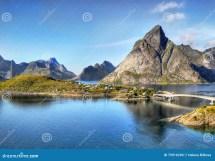 Lofoten Islands Norway Landscape Stock - Of