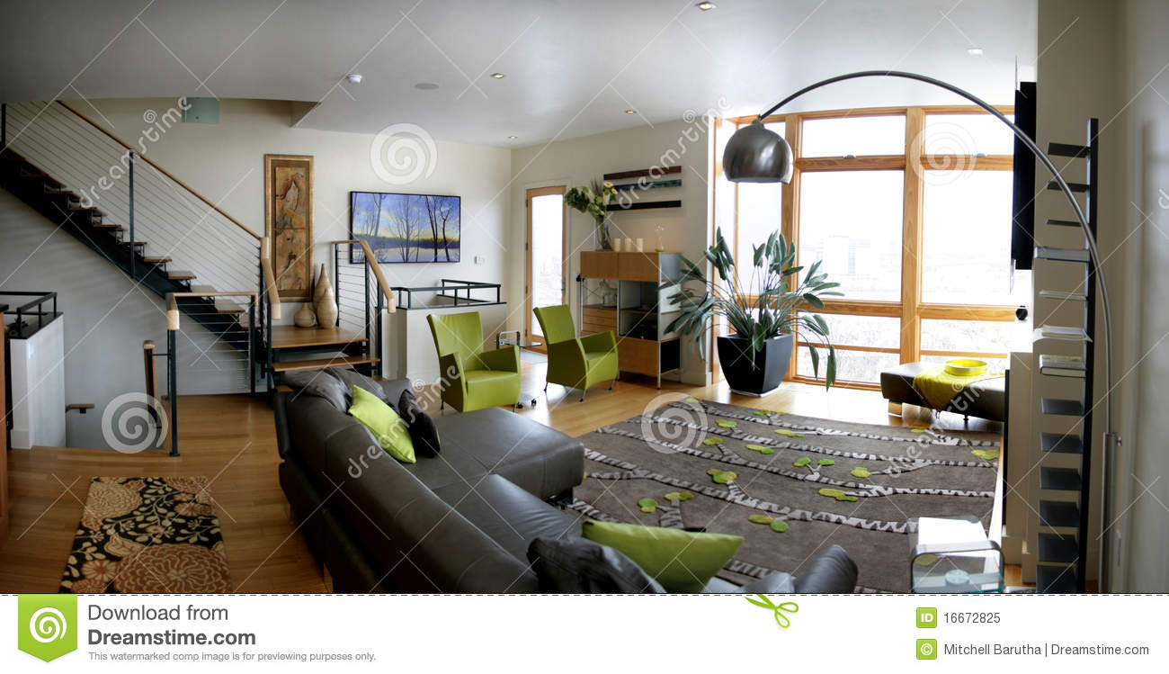 grey furniture living room how can we decorate our loft royalty free stock photo - image: 16672825