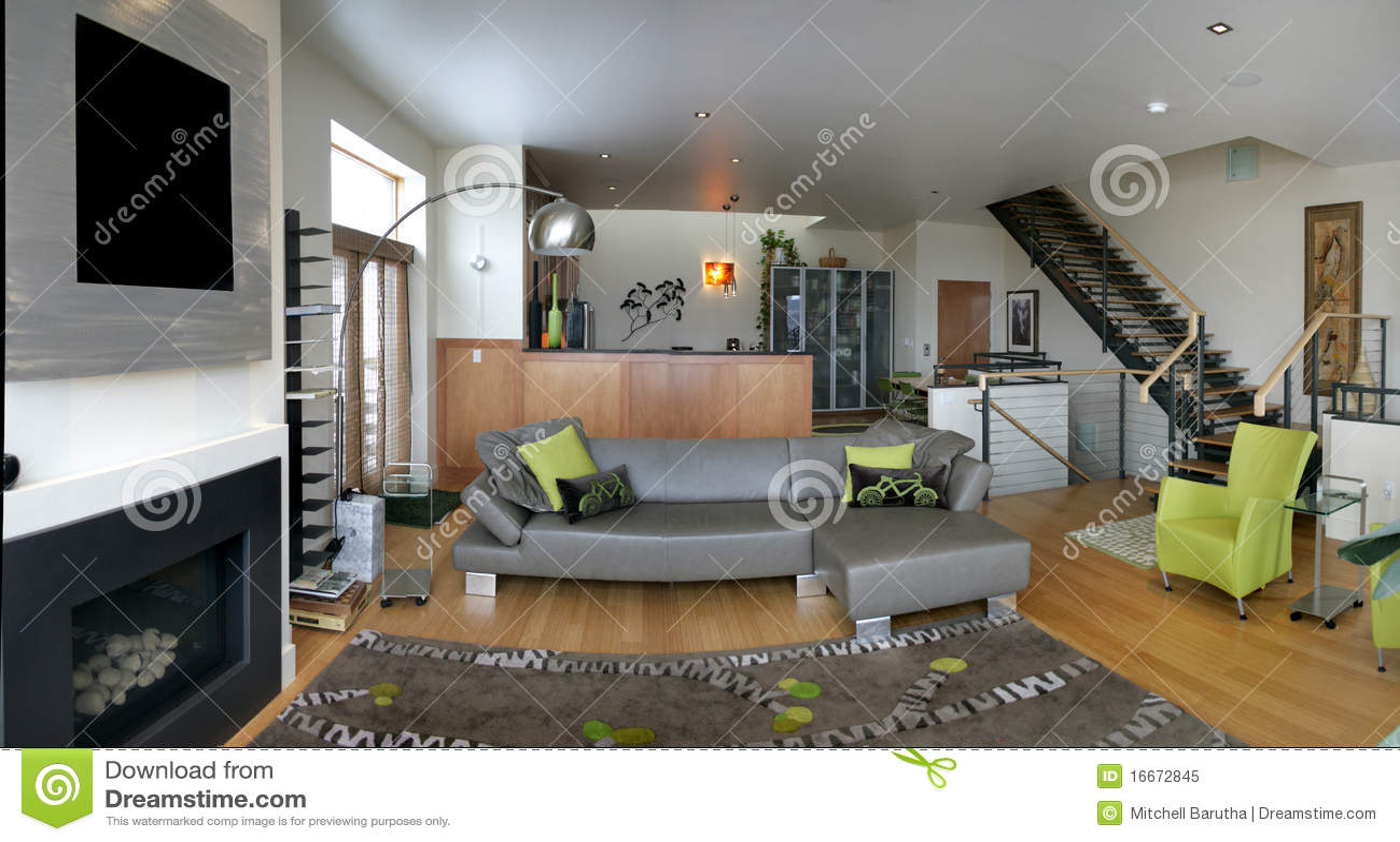 Loft Living Room Royalty Free Stock Photo  Image 16672845