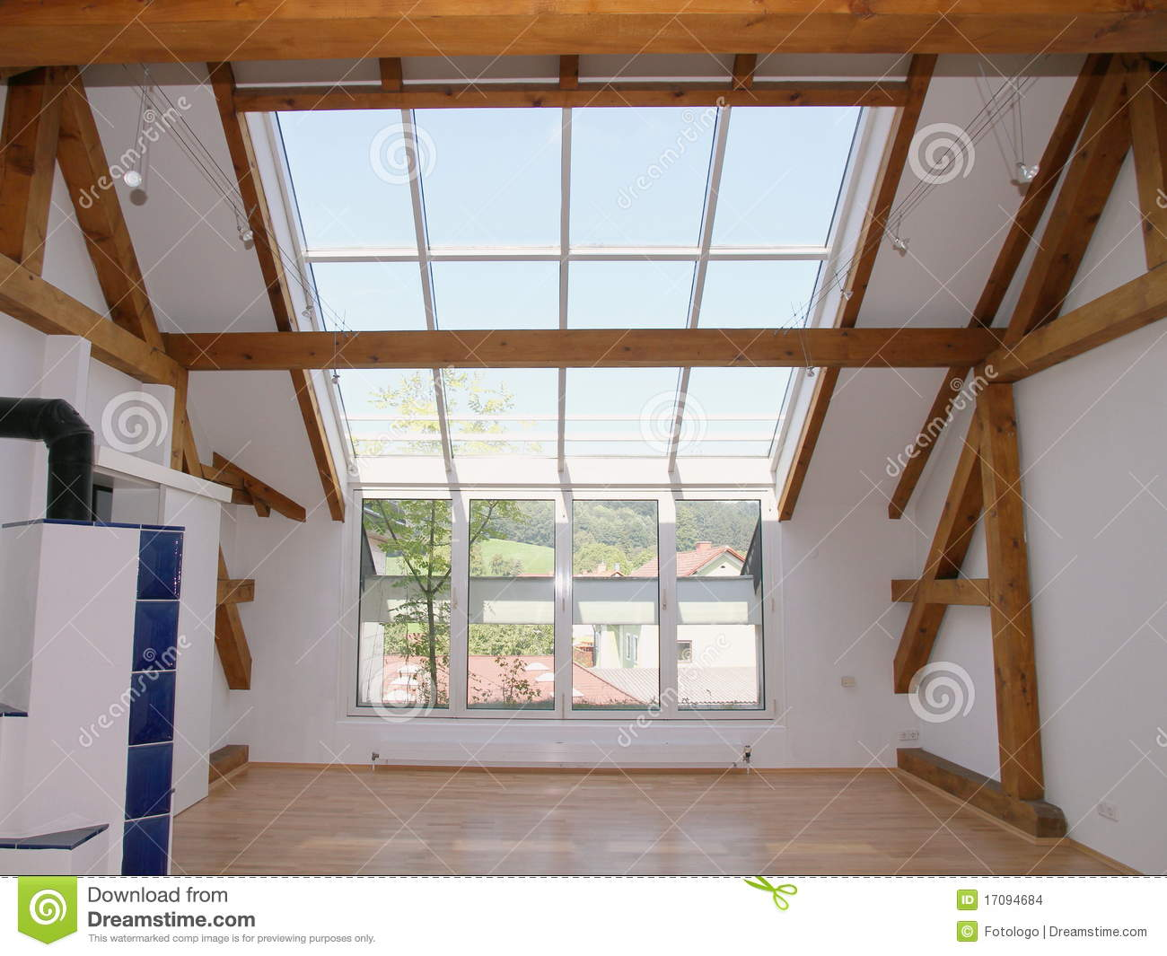 Loft Windows And Sky Lights Stock Images Image 17094684
