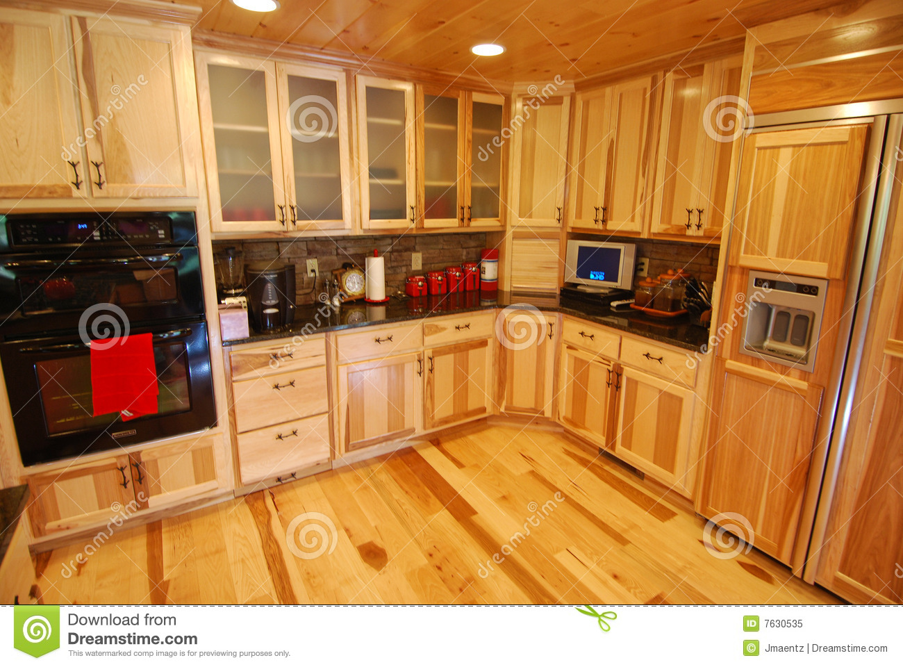 Log house kitchen interior stock image Image of kitchen