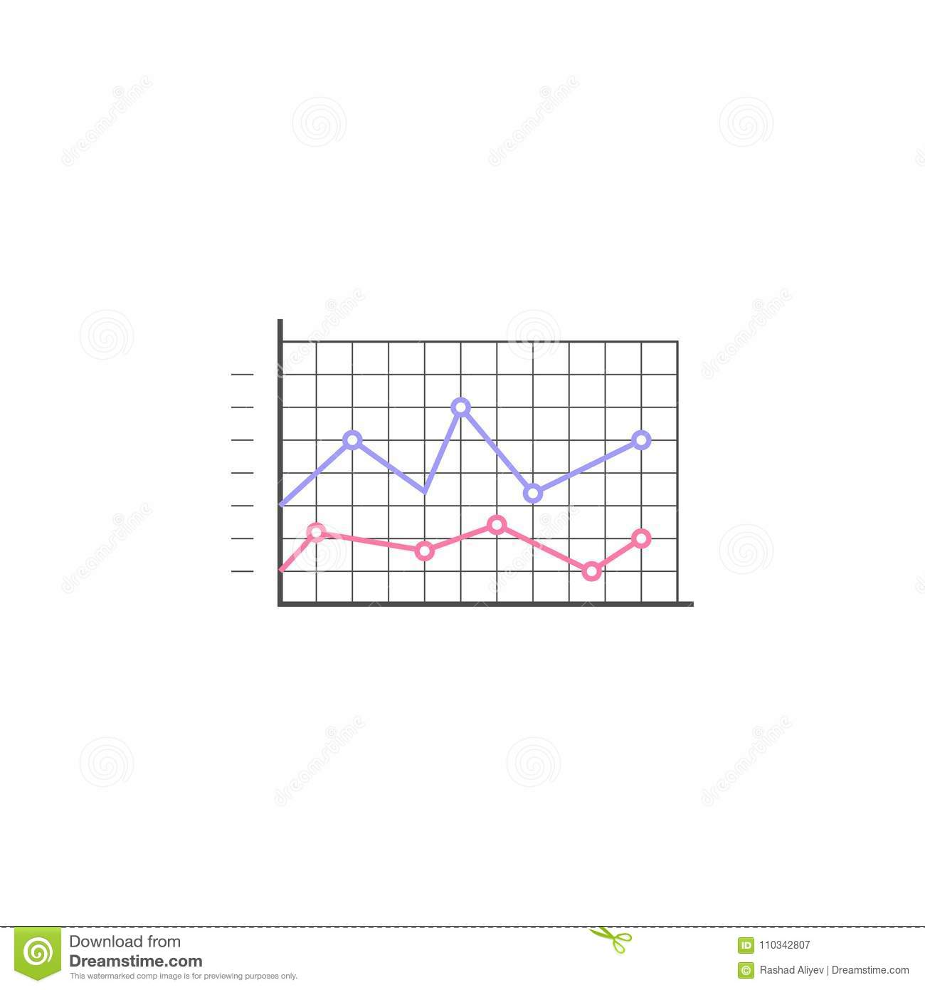 Logarithmic Diagram Icon Element Of Colored Charts And