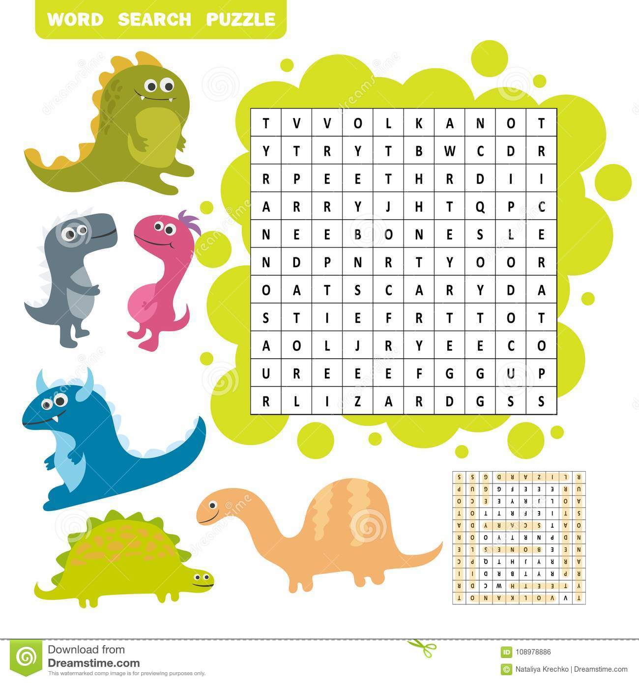 Logic Game For Learning English Find The Hidden Words By