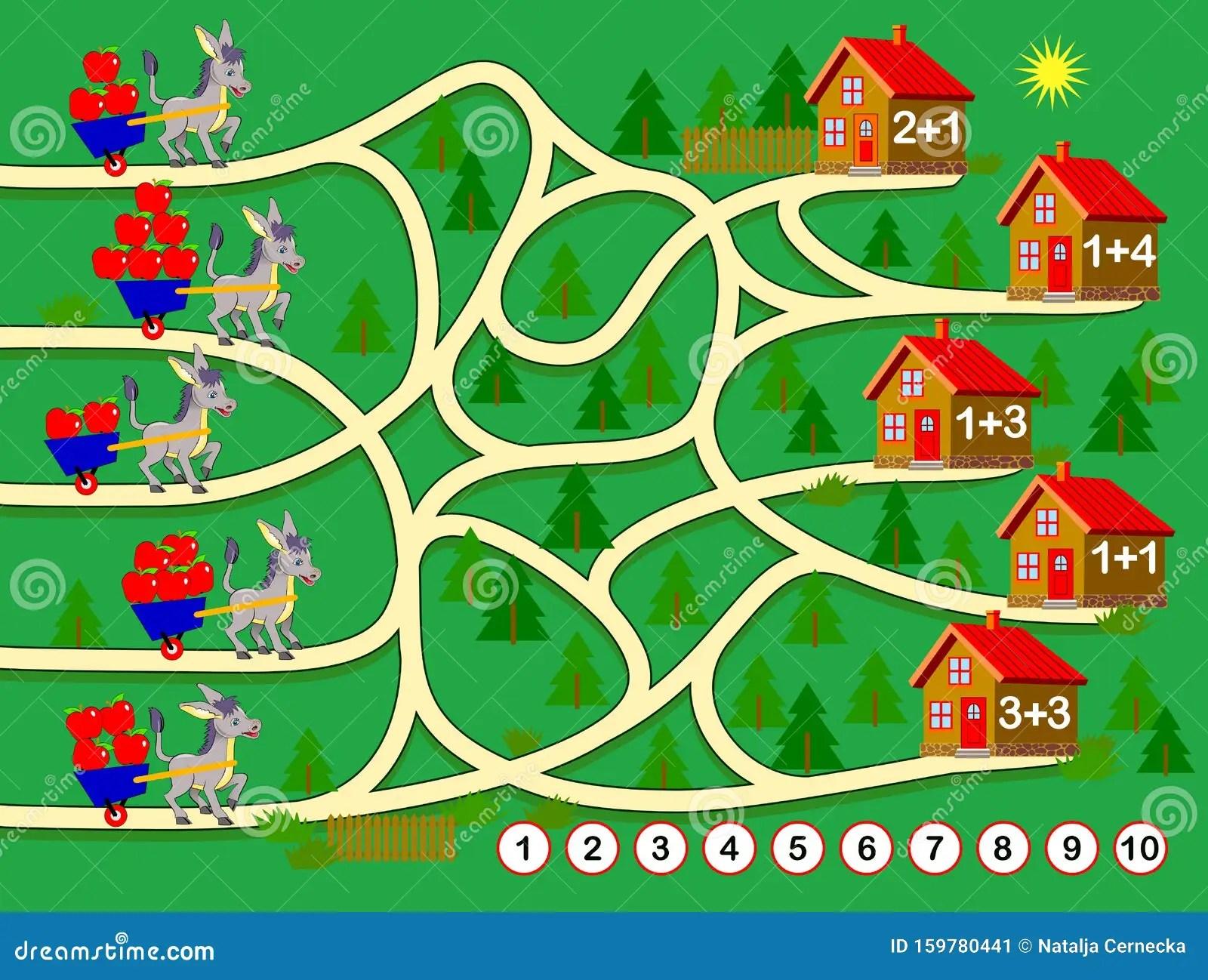 Logic Puzzle Game For Children Worksheet For Math