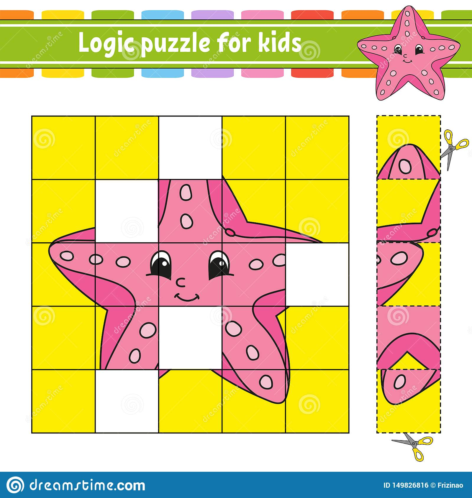 Logic Puzzle For Kids Education Developing Worksheet