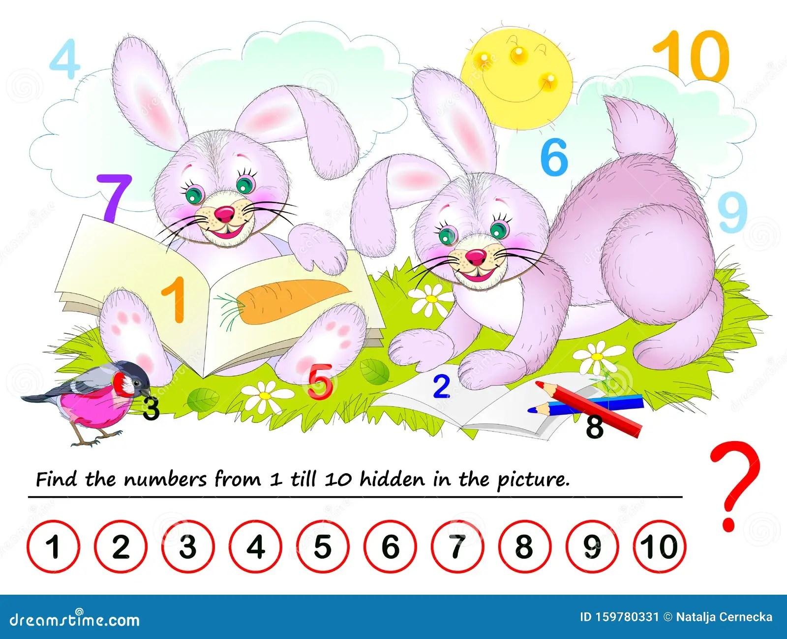 Find Hidden Numbers Stock Illustrations 55 Find Hidden