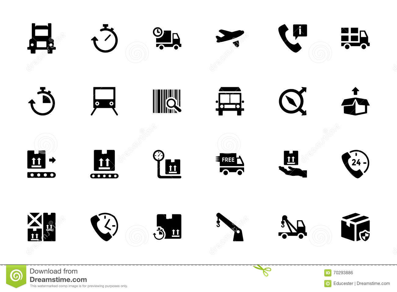 Logistics Delivery Vector Icons 3 Stock Illustration