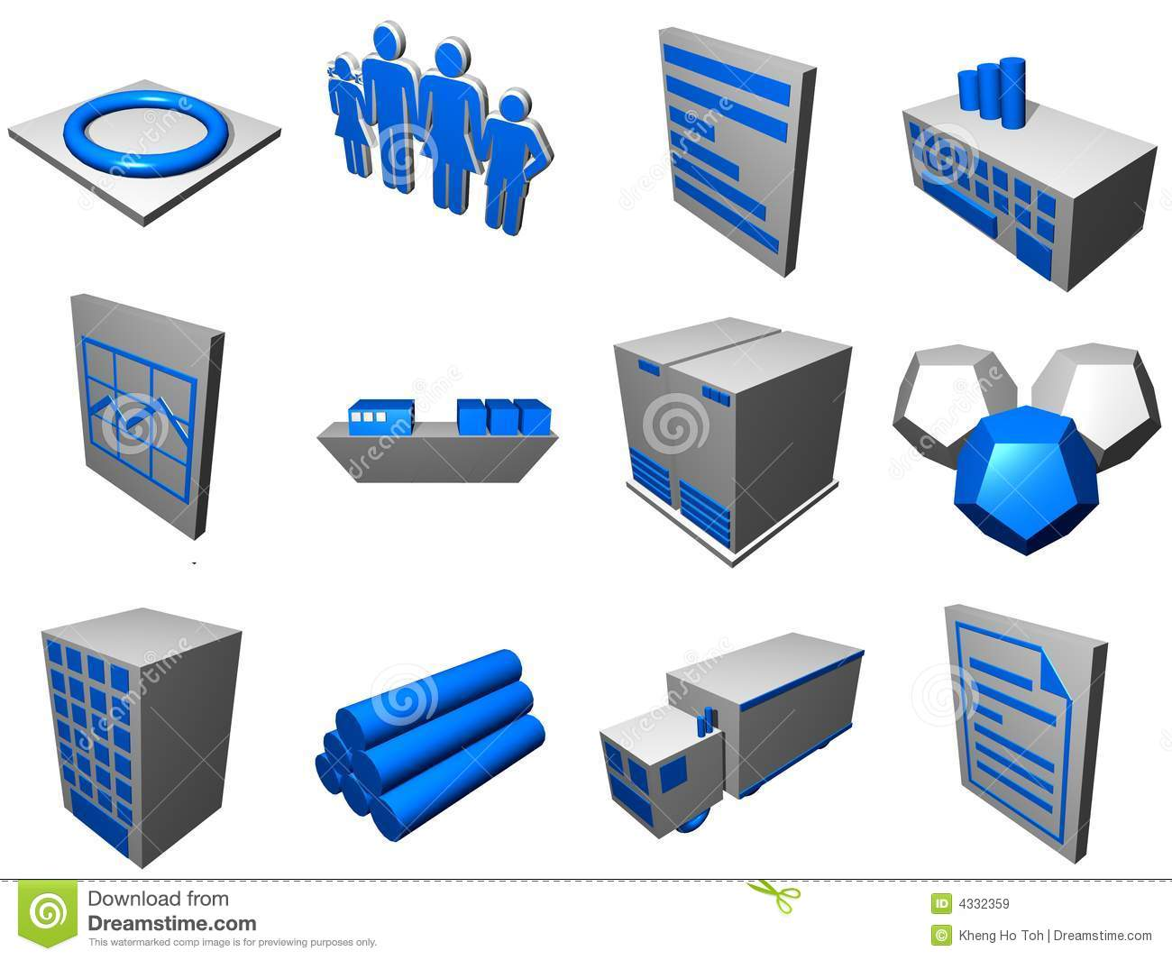 hight resolution of logistics process icons for supply chain diagram