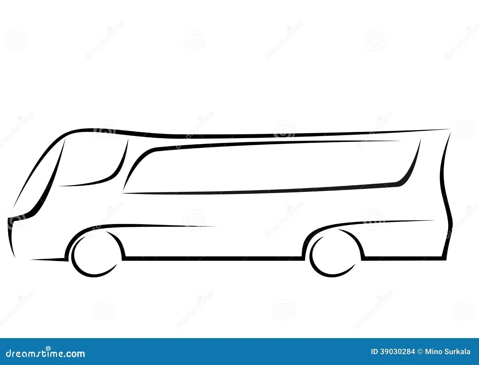 Logo Of A Aerodynamic Bus Stock Vector Illustration Of