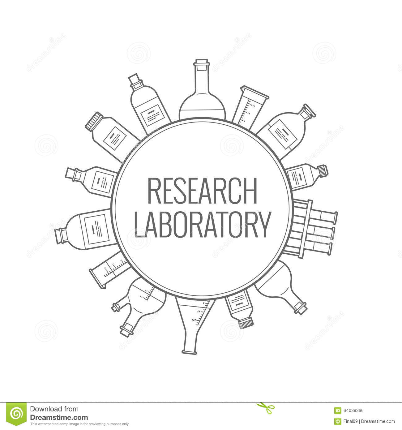 Logo Chemical Research Laboratory Stock Vector