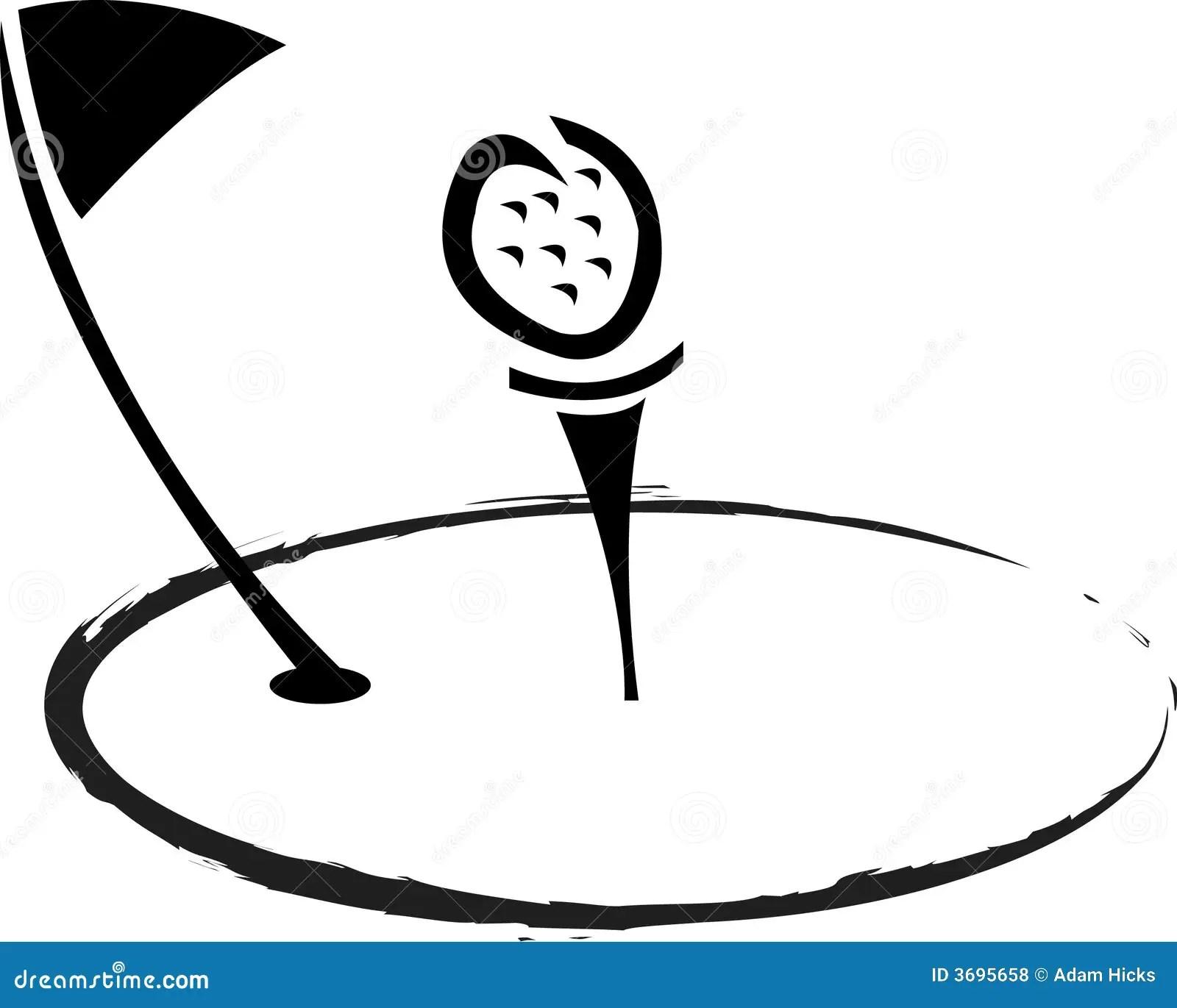 Logo De Golf Illustration De Vecteur Illustration Du