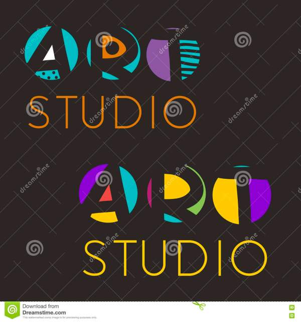 Logo Design Template Art Studio School Of